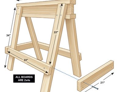 Build a pair of Sturdy Sawhorses for Your Shop