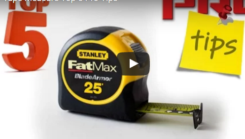 Tape Measure Top 5 Pro Tips