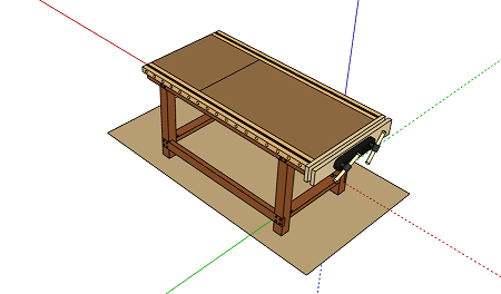 3D Interactive Woodworking Workbench
