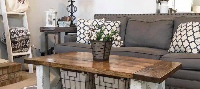 Build a Chunky Farmhouse Coffee Table