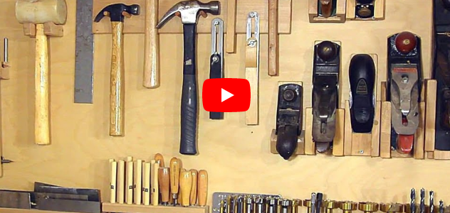 Alternative to a french cleat system for organizing hand tools