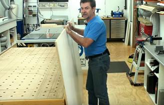 How to lift a full sheet of plywood on your own with ease