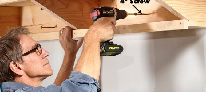 Double Decker Garage Storage Shelves – Step 4
