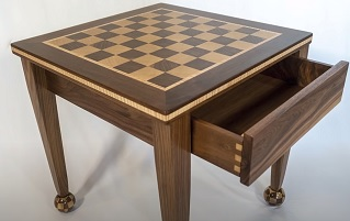 End Table with Removable Chess Board Top
