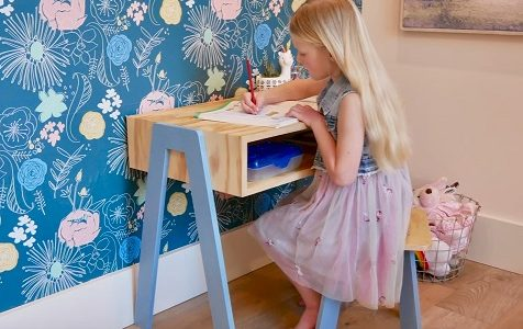Child Desk and Stool from One Sheet of Plywood